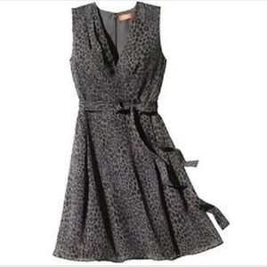 Kirna  Zabete leopard print dress EUC